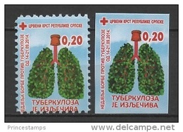 Bosnia & Herzegovina - SRB (2015) Yv. B38 + B38a  /  Rotes Kreuz - Red Cross - Croix Rouge - Cruz  Roja - Croce Rossa - Rode Kruis