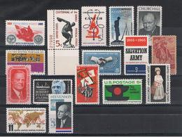 U.S.A.:  1965  COMMEMORATIVI  -  INSIEME  16  VAL. N. -  YV/TELL. 777//792 - Stati Uniti