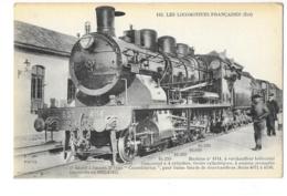 Les Locomotives Françaises - Est - Machine N°5114 à Surchauffeur Hélicoïdal - édit. F.F. Fleury 116 + Verso - Trains