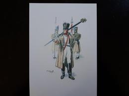 Affiche : Porte Aigle Dun Régiment D'infanterie Premier Empire & - Livres, Revues & Catalogues