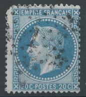 Lot N°47180   Variété/n°29A, Oblit 322A. étoile 1 (Pl De La Bourse) N°3658, Etoile Chiffre 1 Cassé - 1863-1870 Napoleon III With Laurels