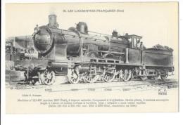 Les Locomotives Françaises - Machine N°221-107 à Vapeur Saturée - édit. F.F. Fleury 90 + Verso - Trains