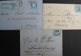 LOT R1861/628 - CERES N°60A + NAPOLEON III Lauré N°29B (3 LETTRES) - 1863-1870 Napoleon III With Laurels