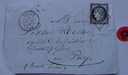 TIMBRE SUR LETTRE . OBLITÉRÉ . 21 Janvier 49 . - 1849-1850 Ceres