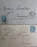 LOT R1861/636 - NAPOLEON III Lauré N°29B (2 LETTRES) PIQUAGE DECALE - 1863-1870 Napoleon III With Laurels