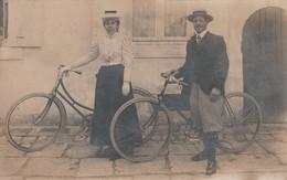 Couple à Vélos  (carte Photo) - Cartes Postales