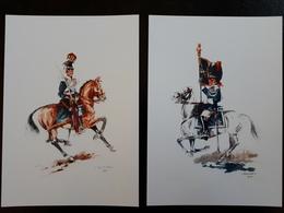 Affiche : Escorte Royale  Gendarmerie 1938 Et Guide De La Meuse 1831 & - Autres