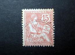 FRANCE 1902 N°125 OBL. (MOUCHON RETOUCHÉ. 15C VERMILLON) - 1900-02 Mouchon