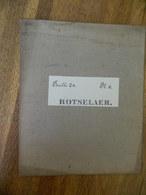 ROTSELAER +MILITARIA: TRES RARE CARTE MILITAIRE DE ROTSELAER ET ENVIRONS -1860-1870 - Documents