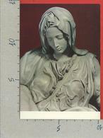 CARTOLINA NV ITALIA - ROMA - La PIETA Di Michelangelo Nella Basilica Di San Pietro - Particolare - 10 X 15 - Sculture