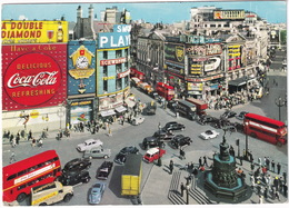 London: VW 1200 KÄFER/COX, ARMSTRONG-SIDDELEY SAPPHIRE, AUSTIN A40, A99, & FX, VAUXHALL VICTOR, VANS - Piccadilly Circus - Toerisme