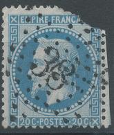 Lot N°47186   N°29B, Oblit étoile Chiffrée 38 De PARIS (R. Des Feuillantines) - 1863-1870 Napoleon III With Laurels