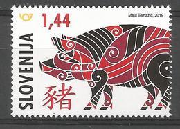 SI 2019-1352 CHINES NEW YEAR PIGS, SLOVENIA, 1 X 1v, MNH - Chines. Neujahr