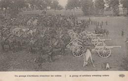 Un Groupe D'artillerie Attendant Les Ordres - Guerre 1914-18