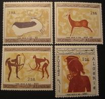 Lot FD/213 - 1967 - ALGERIE - PEINTURES RUPESTRES - N°437 à 440 NEUFS** - Cote : 36,00 € - Algérie (1962-...)