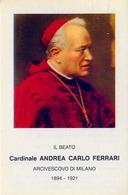 Santino - Il Beato Cardinale Andrea Carlo  Ferrari - E1 - Santini