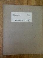AERSCHOT  +MILITARIA: TRES RARE CARTE MILITAIRE DE AERSCHOT ET ENVIRONS -1860-1870 - Documents