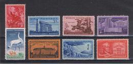 U.S.A.:  1956  COMMEMORATIVI  -  8  VAL. N. -  YV/TELL. 609//623 - Stati Uniti