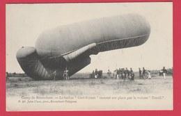 """Brasschaat - Kamp ...le Ballon """" Cerf-Volant """" Ramené Sur Place Par La Voiture """" Treuil """" - 1907  ( Voir Verso ) - Brasschaat"""