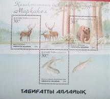 Kazakhstan  2001. Fauna  National Park Markakol  S/S  MNH - Kazakhstan