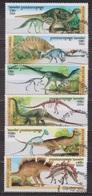 Faune Préhistorique - Dinosaures - CAMBODGE - I Dilophosaurus, Diplodocus - N° 1350 à 1353 ** - 1996 - Cambodge