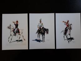 Affiche : Trompettes 2 ème Chasseur à Cheval 1914, Du 1et 2 ème Lanciers 1830 & - Livres, Revues & Catalogues