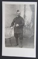 Cpa Carte Photo Soldat Prisonnier Allemagne - Avec Cachet - Caporal Ernest Matray - Pour Aubagne - Guerre 1914-18
