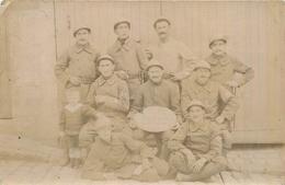 MILITARIA Guerre 1914.18 Groupe De Poilus Ayant Pris Part à La Bataille De La Somme 1916   2scans - Guerre 1914-18