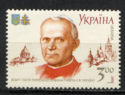 UKRAINE 2001, Visite Pape Jean-Paul II, 1 Valeur, Neuf / Mint. R997 - Ukraine