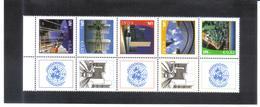 JOO1176 UNO WIEN 2011 GRUSSMARKEN MICHL 719/23 FÜNFERSTREIFEN ** Postfrisch Siehe ABBILBUNG - Wien - Internationales Zentrum