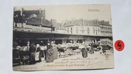 44 . LE MARCHE PROVISOIRE DU QUAI PENTHIEVRE . NANTES . - Nantes