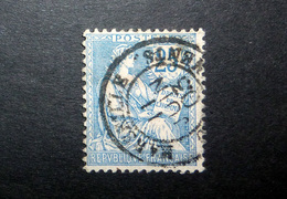 FRANCE 1902 N°127 OBL. (MOUCHON RETOUCHÉ. 25C BLEU) - 1900-02 Mouchon