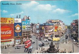 London: HILLMAN MINX, RAPIER, MG MAGNETTE, BMW ISO/ISETTA, JAGUAR MK2,  DOUBLE DECK BUS, AUSTIN JU250- Piccadilly Circus - Voitures De Tourisme