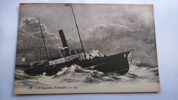 Carte Postale ( P5 ) Ancienne De Bateau , L Augustin Normand - Pêche
