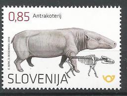 SI 2019-1365 FAUNA FOSSIL, SLOVENIA, 1 X 1v, MNH - Slowenien