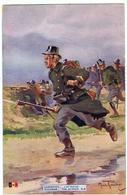 "Armée Belge / Carabinier / "" L'attaque "" / Ill. Maurice Romberg - Guerre 1914-18"