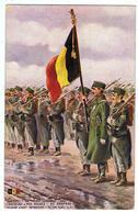 """Armée Belge / Chasseurs à Pied / """" Au Drapeau """" / Ill. Maurice Romberg - Guerre 1914-18"""