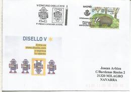 MADRID SPD FDC V CONCURSO DISEÑO 1ER PREMIO CATEGORIA JUVENIL - 1931-Hoy: 2ª República - ... Juan Carlos I