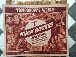 AFFICHE CINEMA  BUCK ROGERS  Tomorrow's World  LARRY CRABBE Chapitre 1 Chapter 1  USA  1938 - Affiches & Posters