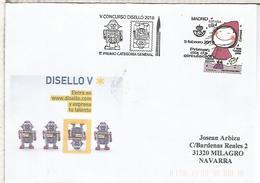 MADRID SPD FDC V CONCURSO DISEÑO 1ER PREMIO CATEGORIA GENERAL - 1931-Hoy: 2ª República - ... Juan Carlos I