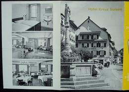 SURSEE 6-seitiger Prospekt Werbung Hotel Kreuz Familie Helfenstein Propr. - LU Lucerne