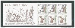 SUEDE 1992 - CARNET  YT C1689 - Facit H422 - Neuf ** MNH - Faune, Animaux Sauvages De Suède (I) - Carnets