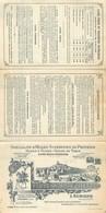 13 AURONS Tarif Huiles D'olives Veuve SYLVAIN ALLEMAND  3 Volets Format 3(160x 105) 2scans - France