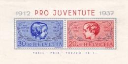 "Schweiz, 1937, 318/19 Block 3, 25 Jahre Stiftung ""Pro Juventute"".  NH * - Blocks & Sheetlets & Panes"
