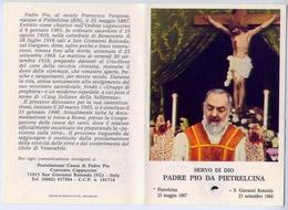 Santino - Patre Pio Da Pietrelcina - Con Reliquia - E1 - Santini