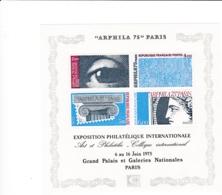 Frankreich, 1975, 1923/26 Block 5, Briefmarken-Ausstellung ARPHILA '75, Paris MNH ** - Blocs & Feuillets