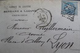 LOT R1861/557 - NAPOLEON III Lauré N°29B (LSC) GC 1716 GRENOBLE (Isère) > LYON - 1863-1870 Napoleon III With Laurels