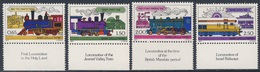 Israel 1977 Mi 722 /5 Y  YT 660 /3 Sc 674 /7 ** Steam + Diesel Locomotives In Holy Land / Dampf + Diesel Lokomotiven - Nuovi (con Tab)
