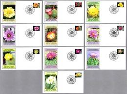 FLORES DE CACTUS - CACTUS FLOWERS. Set 10 SPD/FDC. Meza AZ 2019 - Cactus