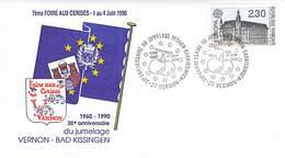 ENVELOPPE 1er JOUR 1990 - 7e Foire Aux Cerises - Vernon Le 01.06.1990 - FDC